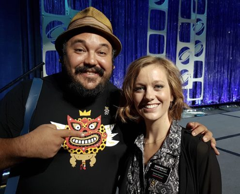 Denise and Jorge R. Gutiérrez, director of 'Son of Jaguar VR', 'Book of Life' after their Production Session