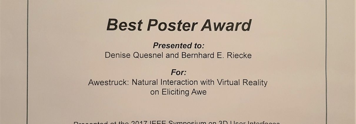 Best POster - Awestruck - IEEE VR 3DUI