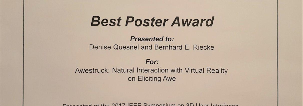 Best POster - Awestruck - IEEE VR 3DUI