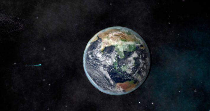 Earth as seen from the Space environment