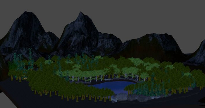 Forest environment, in Unity3D