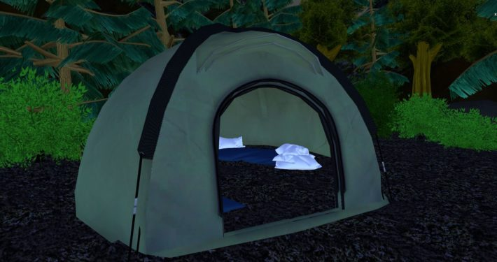 Tent in Forest environment, exterior